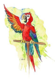 Illustration Papagei von Lona Azur | Reimix