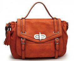 FREE SHIPPING and on SALE $62.50 - Urban Expressions Handbags Minx Vegan Leather Satchel Orange @ BagMadness.com #urbanexpressionshandbags #urbanexpressionsbags #orangehandbags #veganhandbags #veganbags #veganpurses #orangepurses #handbagsale #bagmadness
