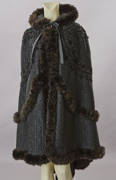 Black Trapunto Cape, late Victorian/Edwardian