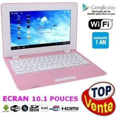Netbook rose Android 4 HDMI écr.10.1 (Wifi-SD-MMC)