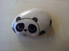 Loukoumiaou: Peinture sur galets #2 petit panda