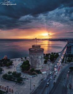 Sunset view in Thessaloniki Most Romantic Places, Beautiful Places, Wonderful Places, Places To Travel, Places To See, Paradise On Earth, Aerial Photography, Time Photography, Tourism