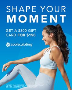 This is the time to shape your moment. CoolSculpting® can help you contour your body by reducing stubborn fat areas with a $300 CoolSculpting gift card for $150. 📱 Call us today to learn more and set up a consultation! 312.757.4505. While supplies last. Cannot be combined with other practice offers. Plastic Surgery Procedures, Lose Inches, Cool Sculpting, Stubborn Fat, Body Contouring, Spa Treatments, Bodybuilding, Fitness Motivation, In This Moment
