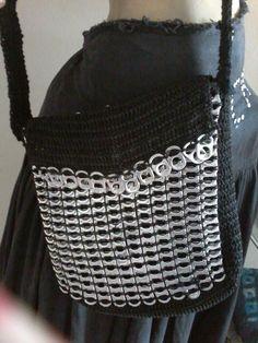 MARLY THIBES: Bolsa em crochê com lacres de latinhas
