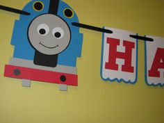 THOMAS and Friends red blue green Birthday  by NanasPartyCreations