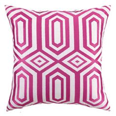 Jennifer Paganelli Hotel Soho Pink Embroidered Pillow PH24JP43BC20SQ