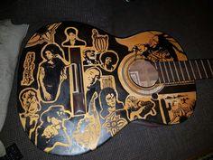 Handpainted guitar
