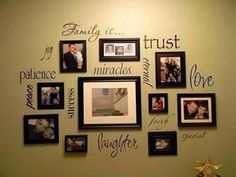 Family photos mural