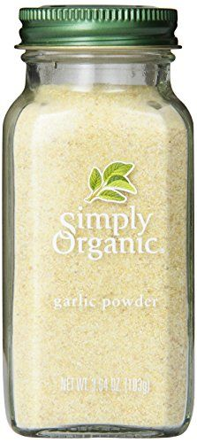 Simply Organic Garlic Powder Certified Organic Container * You can find more details by visiting the image link. Vegan Cauliflower Wings, Mashed Cauliflower, Cauliflower Tacos, Buffalo Cauliflower, Quinoa Veggie Burger, Best Beef Jerky, Chicken Fettuccine, Fettuccine Alfredo, Simply Organic