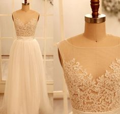 Aline Sheath Lace Applique Tulle Evening/ by CheapDress on Etsy, $199.00