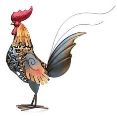 Rooster Metal Craft Figurine Home Decoration Gift idea