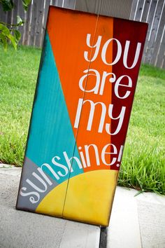 Scripture Art Wooden Sign You are my Sunshine by allisonhoopes, $45.00