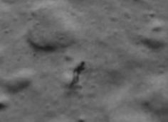 A shadowy figure was spotted on the moon's surface last month,