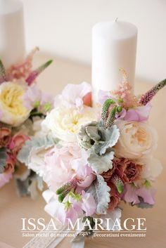 aranjamente florale nunti 2018 Pastel, Table Decorations, Weddings, Bride, Home Decor, Wedding Bride, Cake, Decoration Home, Bridal