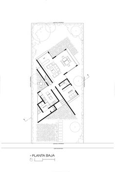 Image 11 of 21 from gallery of Eucaliptos House / MO+G taller de arquitectura. Photograph by Fabrica de Arquitectura (Miguel Valverde Hernández y Helmer Murayama Caro) Drawing House Plans, Plan Drawing, Architecture Drawings, Concept Architecture, Modern House Plans, House Floor Plans, Villa Plan, Floor Plan Layout, Site Plans