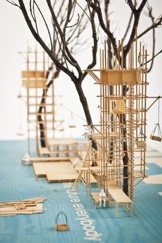 Scaffolding, Architecture Model Making, Concept Architecture, Model Building, Architecture Design, Architecture Drawings, Timber Structure, Tree Structure, Structural Model