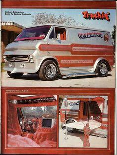 "The ""Gladiator"" custom 70's Ford show van"