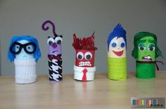 Inside Out-Inspired Paper Tube Craft