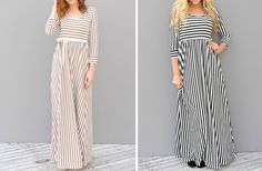 GroopDealz   Striped Maxi Dresses - 2 Colors!