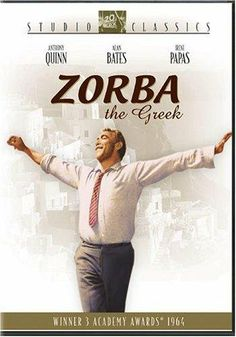 1964 Zorba the Greek drama An uptight English writer traveling to Crete on a matter of business finds his life changed forever when he meets the gregarious Alexis Zorba. With: Anthony Quinn, Alan Bates, Irene Papas Beau Film, Irene Papas, Zorba The Greek, Little Dorrit, English Writers, Anthony Quinn, Films Cinema, Greek Music, Film Posters