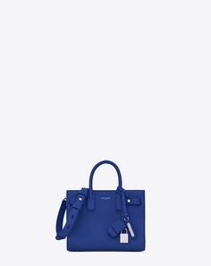 b51dfa9f6e18 SAINT LAURENT Nano Sac De Jour Souple Bag In Royal Blue Grained Leather.  #saintlaurent