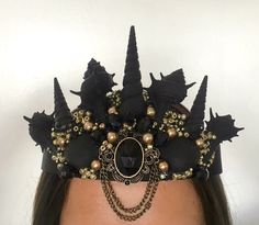Black seashells crown [A personal favorite from my Etsy https://www.etsy.com/shop/Reallifefairytales]