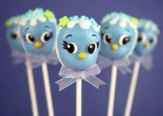 Blue Bird Cake Pops via @Bakerella