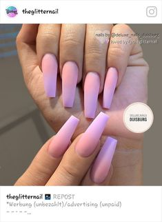 The trend of matte nail art designs have been rising in recent years. You can use matte nail art designs to enhance your temperament and taste and make you look beautiful and gorgeous. Ombre nail art designs make women look very attractive. Cute Nails, Pretty Nails, My Nails, Fall Nails, Summer Nails, Purple Ombre Nails, Best Acrylic Nails, Purple Acrylic Nails, Coffin Nails Ombre