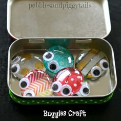 Pebbles and Piggytails: Making Life Meaningful: Altoid Tin Reuse Bug Craft Toy