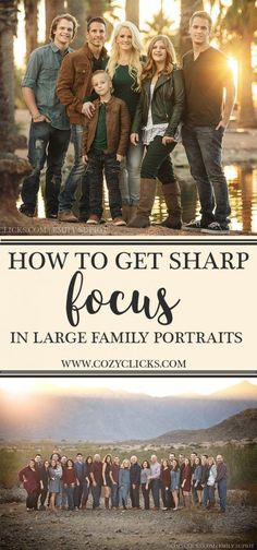 Want to know how you can get sharp focus in your large family portrait? Read here to see how your next large family session will turn out great! Mobile Photography, Abstract Photography, Photography Props, Family Photography, Vintage Photography, Wedding Photography, Photography Accessories, Photography Projects, Newborn Photography