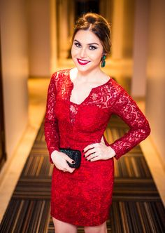 lindo Red Fashion, Party Fashion, Prom Dresses Long With Sleeves, Formal Dresses, Dress Long, Moda Gossip Girl, Wedding Party Dresses, Bridesmaid Dresses, Bride Dresses