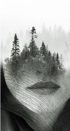ANTONIO MORA ~ a Spanish artist who combines with talent portraits photographed in various landscapes.