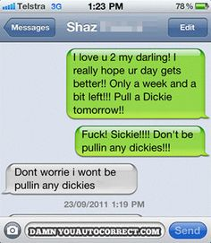 funny auto-correct texts - Time Off
