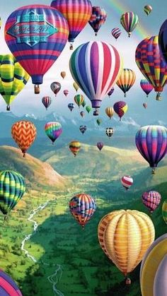 ~ Beautiful view of a balloon festival.
