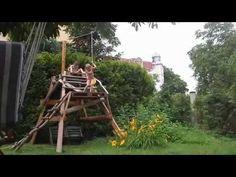 DIY ZIP LINE - TYROLKA W OGRODZIE - YouTube