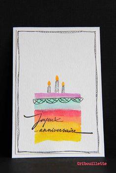 Cartes aux gâteaux Arc-en-ciel