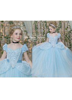 Cinderella Costume Princess Gown Tutu Dress by EllaDynae on Etsy, $270.00