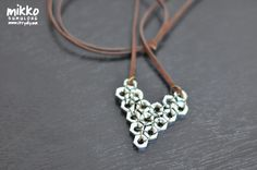 DIY Tutorial Hex Nut Pendant. #diy #crafts #fashion #jewelry #hardware #hex_nuts #heart #necklace #pendant #tutorial