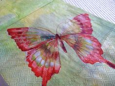 Butterfly, Paper Napkins, Decoupage, butterflies, blue, green, red ...