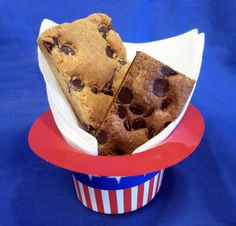 Celebrate July 4 with an All-American favorite - Chocolate Chip Brownies or blondies from Fairytale Brownies.