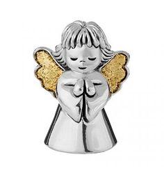 Aniołek mały modlący - powlekany srebrem #PrezentNaChrzest #PamiatkaChrztu #PrezentNaChrzciny
