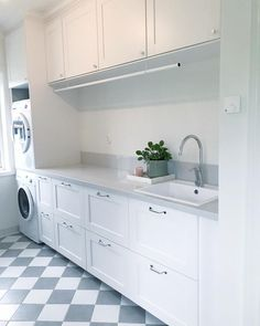 Image may contain: kitchen and indoor Laundry Room Layouts, Laundry Room Storage, Laundry Room Design, Interior Design Living Room, Living Room Designs, Living Room Decor, Interior Design Inspiration, Home Decor Inspiration, Kitchen Decor