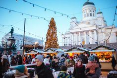 Helsinki Christmas Market - Copyright Visit Helsinki. More Christmas Markets on @ebdestinations #Christmas #Christmasmarkets #Xmas
