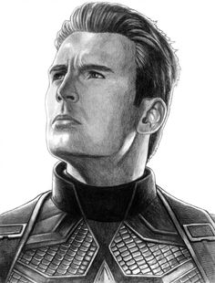 Captain America - (Avengers - Endgame) by on DeviantArt - Avengers Drawings, Avengers Art, Marvel Art, Marvel Heroes, Realistic Drawings, Art Drawings Sketches, Cool Drawings, Captain America Drawing, Spiderman Drawing