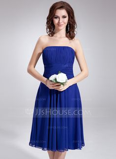 cute and simple! Bridesmaid Dresses - $77.49 - A-Line/Princess Strapless Knee-Length Chiffon Bridesmaid Dress With Ruffle (007020862) http://jjshouse.com/A-Line-Princess-Strapless-Knee-Length-Chiffon-Bridesmaid-Dress-With-Ruffle-007020862-g20862