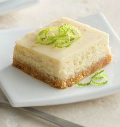 Get the taste of classic Key lime pie without the fuss by making these beginner-friendly bars. They are made from scratch, but only need six ingredients to come together, and most of them you probably already have on hand! For pretty presentation, top each square with lime peel or a dollop of whipped cream. So good!