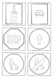 Bergamott: Színeznivaló közlekedési táblák