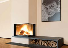 Corner fireplaces by Brunner
