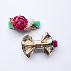 potluck store - unique accessories for your little one by potluckstore Tiny Mushroom, Kids Hair Bows, Color Feel, Purple Velvet, Little Girl Hairstyles, Baby Bows, Vintage Roses, Gold Leather, Hair Clips
