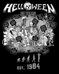 All the pumpkins for 7 Sinners - Helloween album